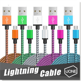 Wholesale Wholesale Phone Brand - Micro USB Cable Nylon braided Copper Charger Sync Data Lightning Cable Cord for Andriod Smart Phone samsung galaxy S7 edge S6 S4
