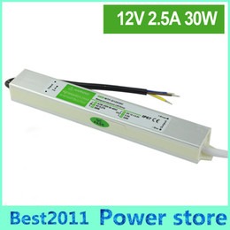Wholesale Driver 12v - Waterproof LED power supply 12V 30W 2.5A Waterproof Single Output driver for LED Strip light