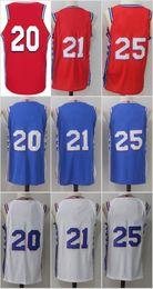 Wholesale Fast Cheap - 2017 2018 New Season Mens 21 Joel Embiid Jersey Blue White Red Cheap 20 Markelle Fultz 25 Ben Simmons Basketball Jerseys Fast Shipping