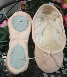 Wholesale Leather Ballet Shoes Wholesale - full cotton canvas ballet slippers dance shoes ,Comfort soft two split leather sole for all ages