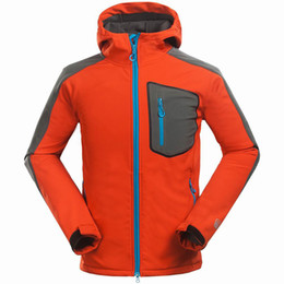 Wholesale Outdoor Jacket Climb Hiking - Wholesale-Brand Compound soft shell jacket men Outdoor sports leisure sports Mountain climbing hiking Waterproof windproof men jacket