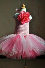 Wholesale Baby Girls Dress Designer - 2017 Pink Halter Neck Flower Girl Dresses Short Colorful First Communion Dresses Little Baby Girls Birthday Ball Gowns Cheap MC0223