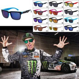 Wholesale American Pilots - Fashion Multi Color Sunglasses Ken Block American Style Sunglasses Colorful Reflective Sports Eyewear Racing Sunglasses For Men