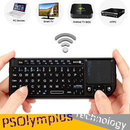 Wholesale Notebook Keyboards - Rii mini X1 Handheld 2.4G Wireless Keyboard Touchpad Mouse For PC Notebook Smart TV Black C1783