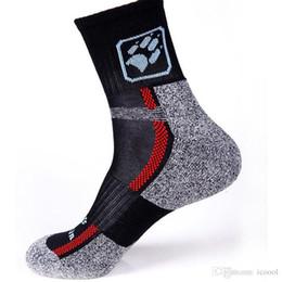 Wholesale Thermal Socks Skiing - New Coolmax Thermal Cycling Socks Men Outdoor Sports Socks Calcetines Ciclismo Wearproof Footwear For Road Bike Socks Cycling 2016
