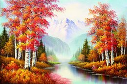 Wholesale Scenery Trees Painting - Amazing Landscape & trees, High Quality Scenery Art Painting Home Wall Decor HD Print on Canvas no frame
