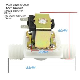 """Wholesale Air Flow Switches - Free Shipping DC24V Electric Solenoid Valve Magnetic N C Water Air Inlet Flow Switch N C 1 2""""V"""
