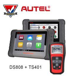 Wholesale Maxitpms Autel - Autel MaxiDAS DS808 + MaxiTPMS TS401 AUTOMOTIVE DIAGNOSTIC & ANALYSIS SYSTEM Universal Car Diagnostic tool ALL electronic system