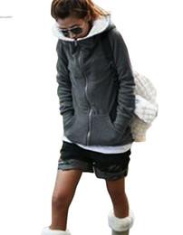Wholesale Ladies Zip Up Hoodies - 2016 Fashion hoodie for women clothing Zip Up Tops Coat Casual Slim Warm Sweatshirt Outerwear Ladies Clothes