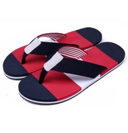 Wholesale Black Summer Heels - 2017 brand new summer Men Flip-Flops Beach Slippers Shoes eur size 39-45