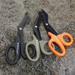 Feldzahnrad online-EMT EDC Getriebe Tactical Rescue Scissor Protable Tactical Gear Feldüberlebensausrüstung multi Farben Outdoor Camping Werkzeuge F643-1