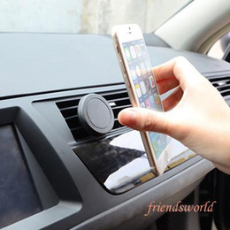Wholesale Cradle S3 Mini - Universal Magnetic Mini Car Air Vent Outlet Mount Smartphone Holder Cradle Bracket for iPhone 6 plus for Samsung S5 S4 S3
