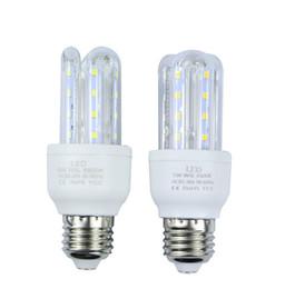 Wholesale Candle Shape Chandelier - Energy saving high power E27 SMD2835 LED Lamp 5W LED Light U Shape AC85-265V Led Corn Bulb Chandelier Candle Light free shipping