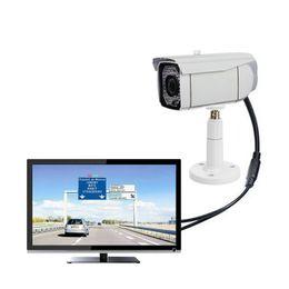 Wholesale Cctv Camera Wall Mount - CCTV Camera Bracket Holder Stand Wall Mount for Security kamera Surveillance Bullet Indoor Outdoor Ceiling Aram Plastic White
