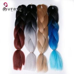 Wholesale Xpression Braiding Hair - Ombre Kanekalon Braiding Hair 5pcs Synthetic Braiding Hair 3 Tone Xpression Braiding Hair High Temperature