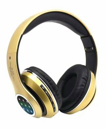 Wholesale Apple Product Mix - New Products 2016 Wireless Music Headphone with LED Flash Light Stereo Bluetooth Headset Cell Phone Earphones