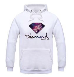 Wholesale Sports Hoodies For Men - 2016 Fleece Casual Unisex Hoodies Sweatshirt Diamond Supply Sport Hip-hop Pullover Hooded Sweatshirts Mens Sportwear Coat Jogger For man