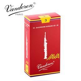 Wholesale Reed Vandoren - Wholesale- Original France Vandoren JAVA Soprano Sax Red Reeds  Bb Soprano Saxophone Reeds 2.5# 3.0# Box of 10 [Free shipping]