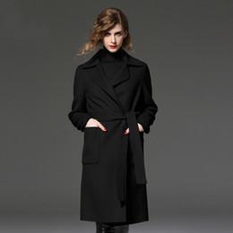 Wholesale Women S Wool Maxi Coat - Fashioneer casaco feminino 2017 Women Plus size Autumn Winter Cassic Simple Wool Maxi Long Coat Female Robe Outerwear manteau femme