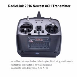 Wholesale Transmitter Receiver Combo - Wholesale- RadioLink T8FB controller 2.4GHz 8ch RC Transmitter R8EH Receiver Combo Remote control for RC Helicopter Quadcopter Plane uav