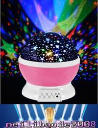 2019 lámpara giratoria led Romántico Rotación Giratoria Proyector de Luz Nocturna Niños Niños Bebé Sueño Iluminación Sky Star Master Lámpara USB Proyección Led MYY rebajas lámpara giratoria led