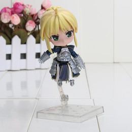 Wholesale Fate Saber Figure - Cute Fate Stay Night  Zero Saber Knight Nendoroid Figure Toy #121 pvc action figure New in Box approx 10cm
