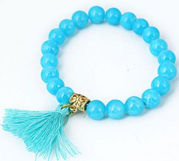 Wholesale Loose String Beads - Freeshipping The direct selling 8 mms in factory house imitates loose stone tassels DIY vogue string bead bracelet wholesale