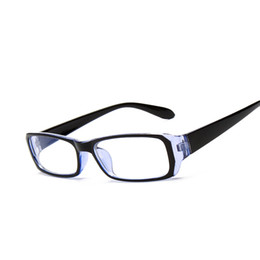 Wholesale Tv Mirror Glasses - Wholesale-Computer TV Glasses Radiation Resistant Transparent lens Read Glasses Men Women Plain Mirror 4 Colors Frame F15004 Oculos