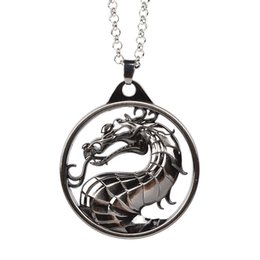 Wholesale Vintage Dragon Necklace - Vintage Movie Inspired Game of Thrones Retro BlackTargaryen Dragon Shaped Chain Necklace Keychain New Arrival