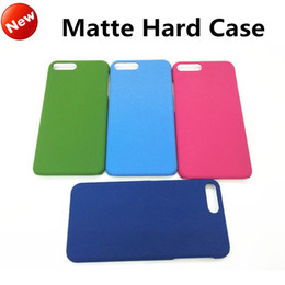 Wholesale Frost Plastic Skin - New Luxury Ultra Thin Matte Case For iphone 7 Plastic PC Frosted Hard Back Skin Cover Colorful Grind arenaceous shell For iphone 6s 7 plus
