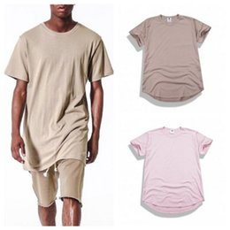 Wholesale Street Swag - Wholesale retail New Summer Men T-Shirt Hip Hop Solid High Street Clothes oversized Casual cotton T Shirt Swag Streetwear