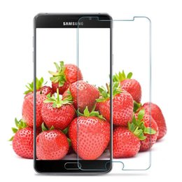 Wholesale Galaxy Duos Cases - Wholesale-2 Pcs Tempered Glass For Samsung Galaxy A3 A5 A7 2016 Duos Screen Protector Safety Protective Film A310F A510F A710F A7100 Case