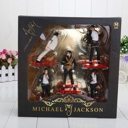 Wholesale Action Jackson - Michael Jackson PVC Action Figure MJ Collection Model Toy 12cm New in Retail Box 5pcs set retail