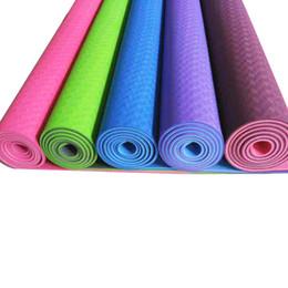 """Eco Friendly Two-tone Non Slip para principiantes TPE Yoga Mat con correa para llevar Extra Long 72 """"Thick 1/4"""" (6 mm) desde fabricantes"""