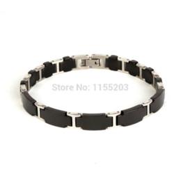 Wholesale Tourmaline Power Bracelet - P065 Noproblem Ion Balance negative ion noble magnetic tourmaline fashion metal charm health men power bracelet
