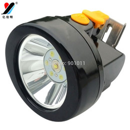 Wholesale Miners Cap Lamps - LED Mining Cap light 18650 Rechargeable Battery Scrypt Miner Headlight film Camping Hunting Safety Miner Lamp YJM-KL2.8LM(A)