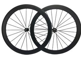 Wholesale Carbon Fiber Front Wheel - 60mm Carbon Road Bicycles Wheelset 25mm Width Carbon Fiber Bike Wheel Wholesale front and rear cycling wheel Set T700 Carbon