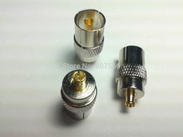 Wholesale Mcx Rf - 100PCS IEC DVB-T TV PAL Female Jack to MCX Male Plug RF CONNECTOR