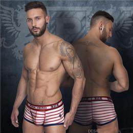 Wholesale Men S Sexy Underpants - Men's underwear plus size Underpants Sexy Fashion Panties Print Striped Briefs Cotton Low Waist Men 's Straight Underwear 28