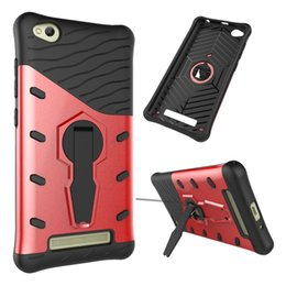 Wholesale Xiaomi Holster - For Xiaomi Redmi 4A 360 Degree Rotation Rugged Combo Sniper Hybrid Armor Bracket Impact Holster Cover For Xiaomi Redmi 4A Kickstand Case