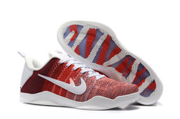 Wholesale Horse Flats - Free Shipping KB 11 XI Elite Low 4KB Red Horse Sneakers Mens Basketball Kobe Sport Shoes