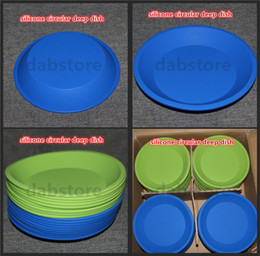"""Wholesale Square Stick - free shipping silicone tray Deep Dish Round Pan 8.5"""" friendly Non Stick Silicone Container Concentrate Oil BHO silicone tray"""