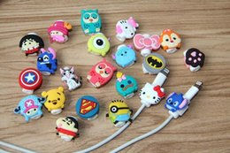 Wholesale Iphone Wallet Case Protect - Cartoon Design USB Data Cable Protectors Cord Saver Protect Handle For iPhone Lightning iPad Cable Type C Micro USB Charging Date Cable