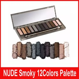 Wholesale Nude Naked - NEW in stock NAKED Skok Eye Shadow New Arrive High Quality HOT Sale Makeup NUDE Smoky Palette 12 Color Eyeshadow Palette kylie