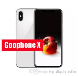 Wholesale Google Smart Cover - Free Dhl 5.5inch Goophone x goophone ix face recognition glass cover 4g lte Octa Core Wireless Charging 2G Ram 16G Rom VS goophone i8 plus