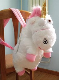 "Wholesale Despicable Unicorn Backpack - Wholesale-Despicable Me 2 Rare Unicorn Plush Backpack 26"" School Bag Plush toy"