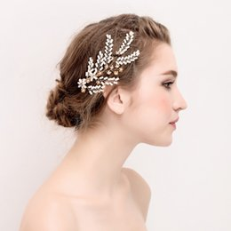 Garras de cabelo elegante on-line-Beijia elegante headpiece casamento garras de cabelo de noiva para as mulheres de cristal strass acessórios de jóias de casamento do baile de format ...