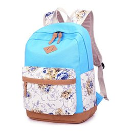 Wholesale Hot Style Laptop Bags - Hot Sale Fashion Backpack 2016 New Design Girls Shoulder Bag Books Laptop Splice Travel Backpack for Women