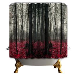 Canada 69 x 70 pouces haute qualité forêt rideau de douche décoration de la maison salle de bain moisissure résistant imperméable tissu polyester rideaux suspendus pas cher Offre
