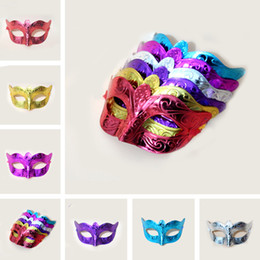 Wholesale Sexy Animal Cosplay - On Sale Party masks Venetian masquerade Mask Halloween Mask Sexy Carnival Dance Mask cosplay fancy wedding gift mix color IB394